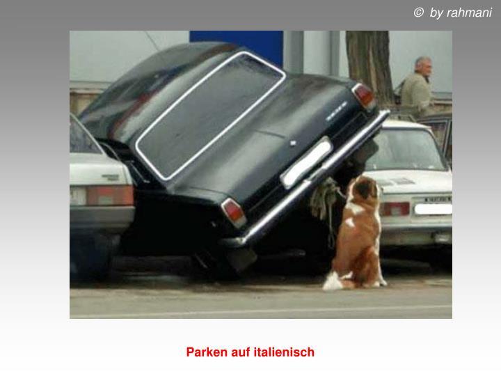 Parken auf italienisch