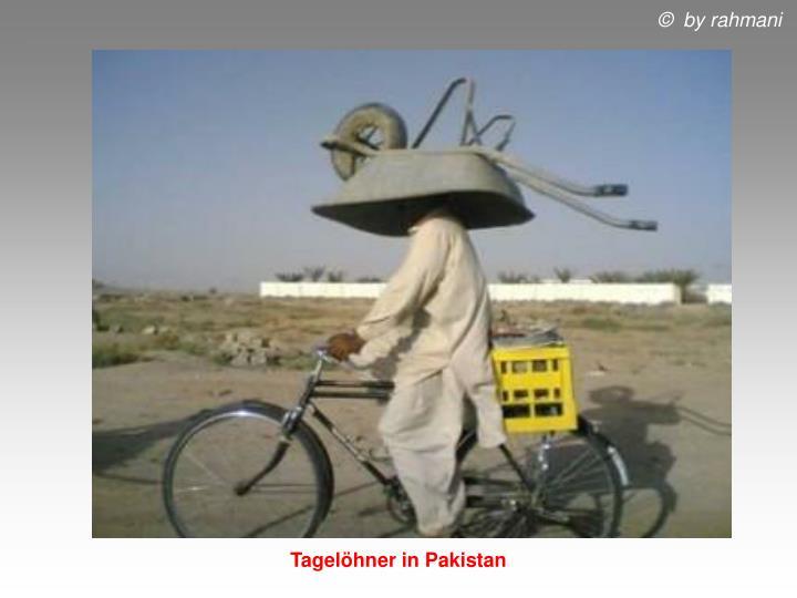 Tagelöhner in Pakistan