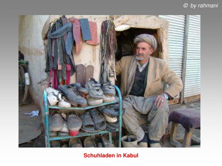 Schuhladen in Kabul