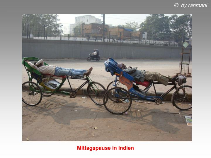 Mittagspause in Indien