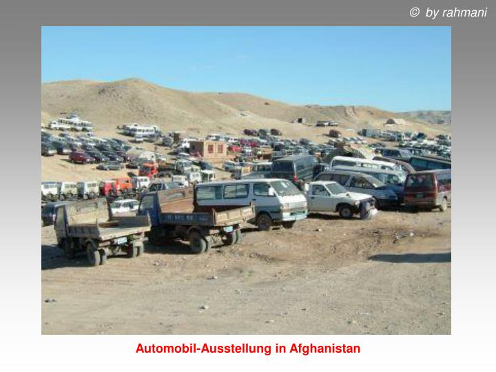 Automobil-Ausstellung in Afghanistan