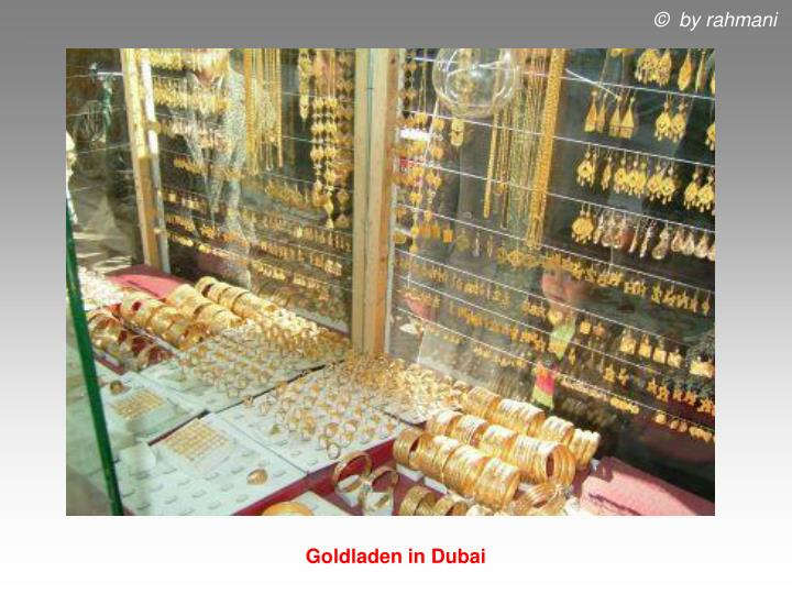 Goldladen in Dubai