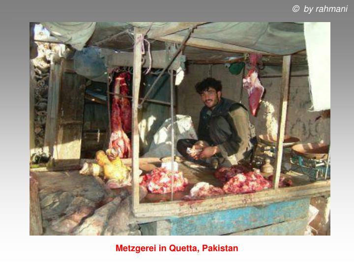 Metzgerei in Quetta, Pakistan
