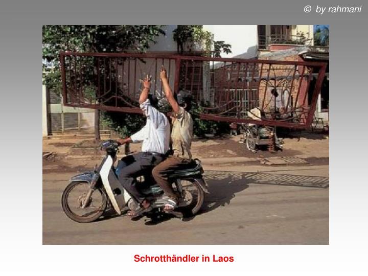 Schrotthändler in Laos