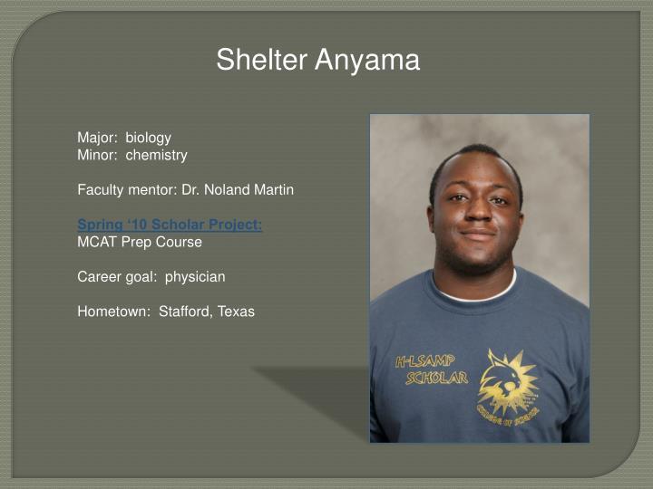 Shelter Anyama