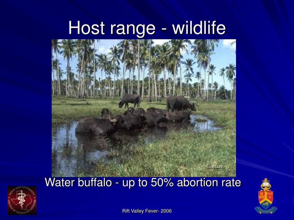Host range - wildlife