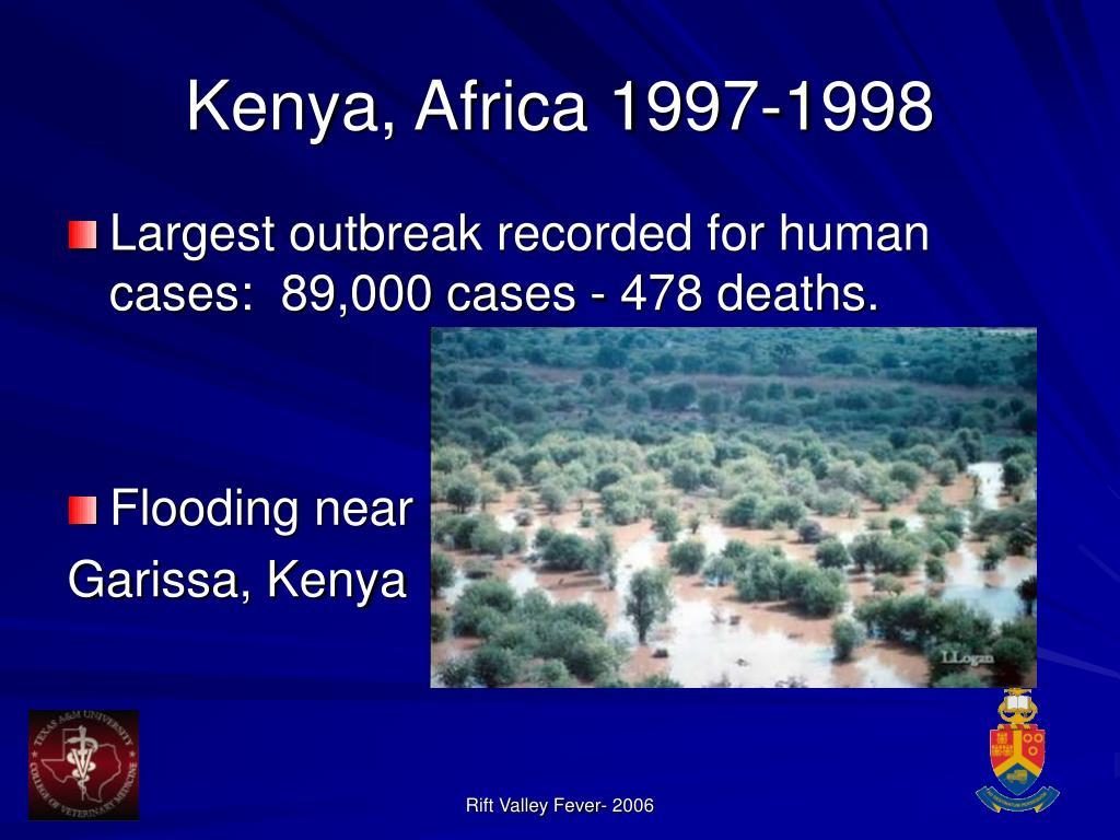 Kenya, Africa 1997-1998