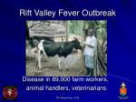 rift valley fever outbreak