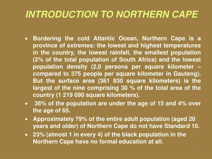 Introduction to northern cape