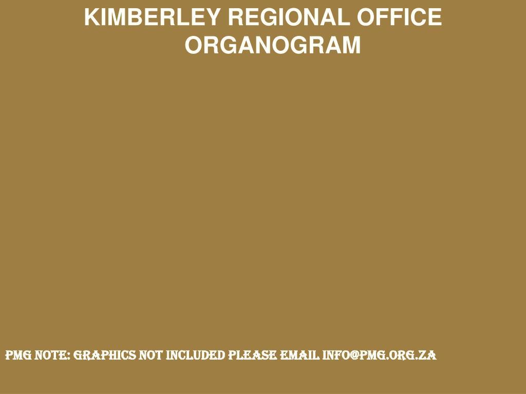 KIMBERLEY REGIONAL OFFICE ORGANOGRAM