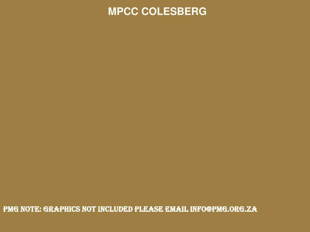 MPCC COLESBERG