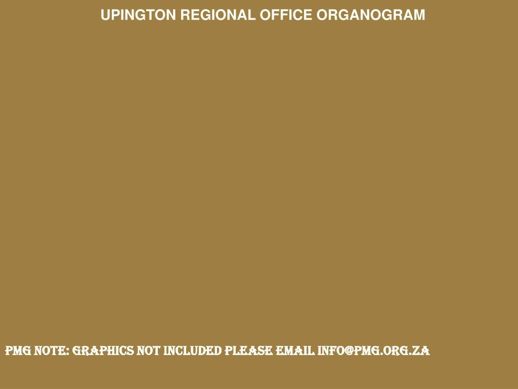 UPINGTON REGIONAL OFFICE ORGANOGRAM