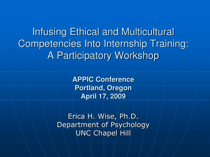 multicultural competence is an ethical issue Topic: cultural competence and related issues guidelines on multicultural education, training, research, practice, and organizational change for psychologists.