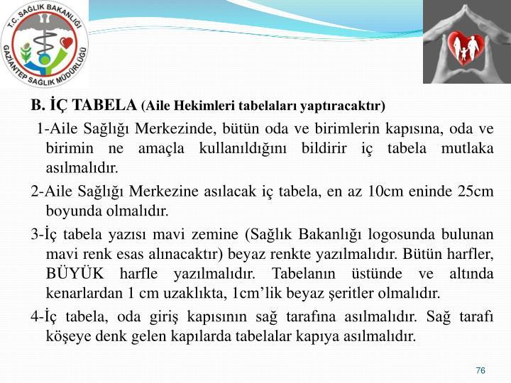 B.  TABELA
