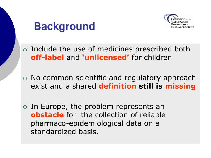 Include the use of medicines prescribed both