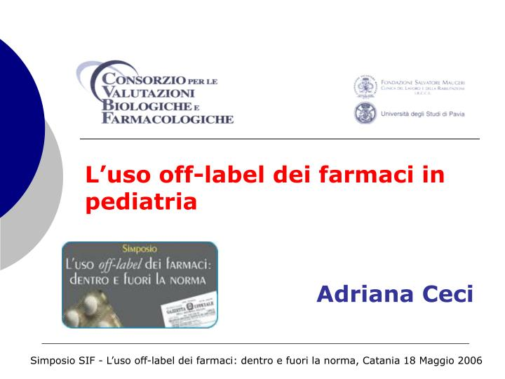 L uso off label dei farmaci in pediatria