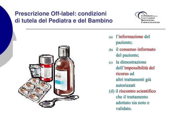 Prescrizione Off-label: condizioni