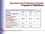 questionnaire preliminary results proposal of definitions1