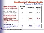 questionnaire preliminary results proposal of definitions2