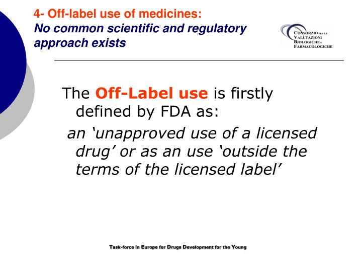 4- Off-label use of medicines: