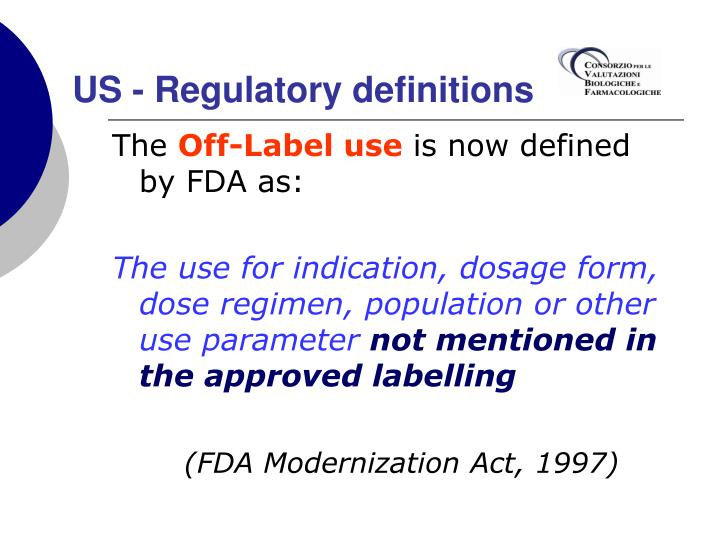 US - Regulatory definitions