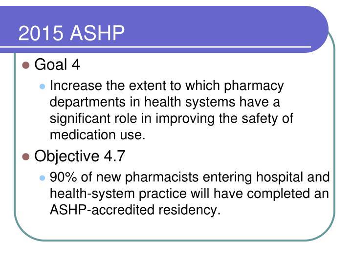 2015 ASHP