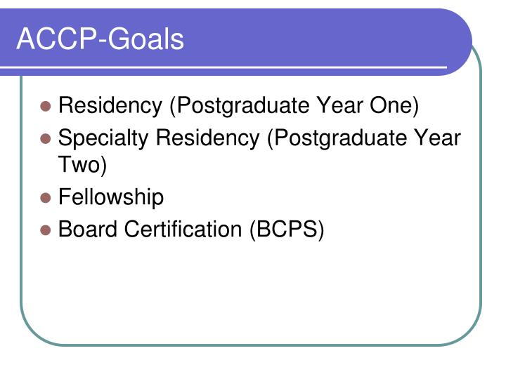 ACCP-Goals