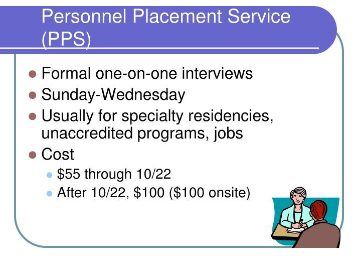 Personnel Placement Service