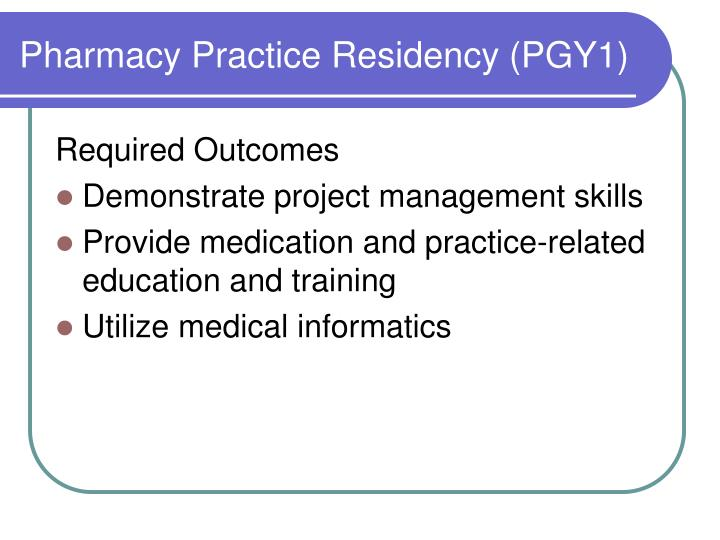 Pharmacy Practice Residency (PGY1)