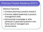 pharmacy practice residency pgy12