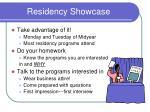residency showcase