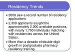 residency trends