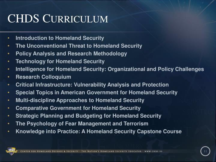 CHDS Curriculum