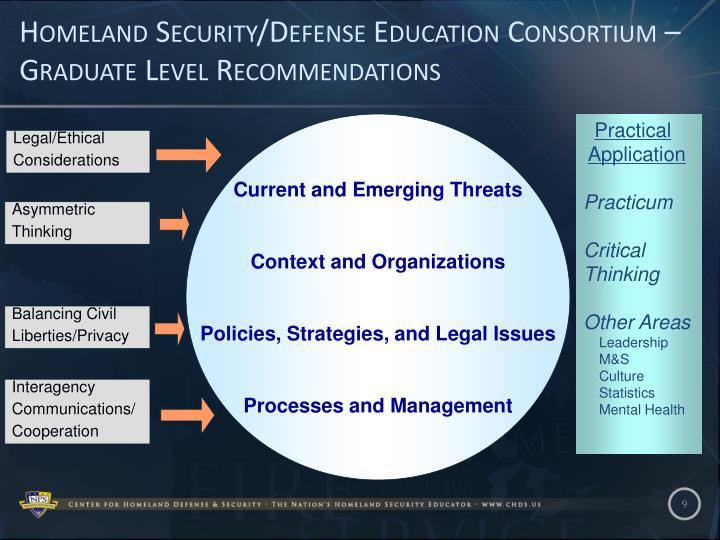 Homeland Security/Defense Education