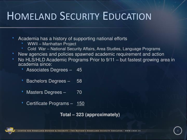 Homeland Security Education