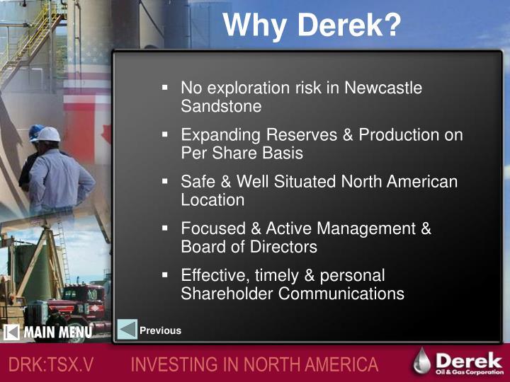 Why Derek?