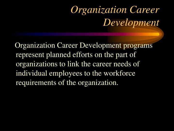 Organization Career Development