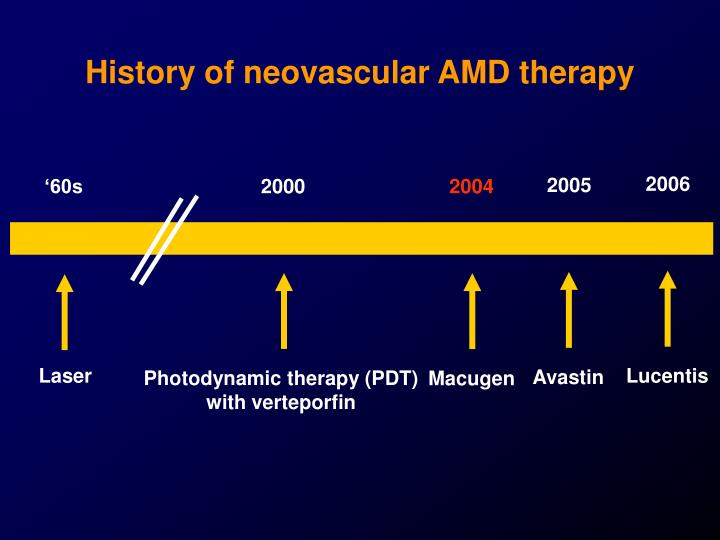 History of neovascular amd therapy