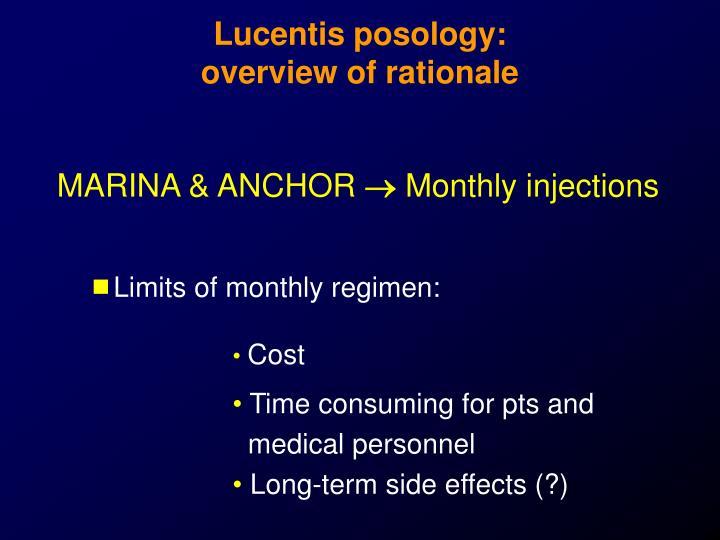 Lucentis posology: