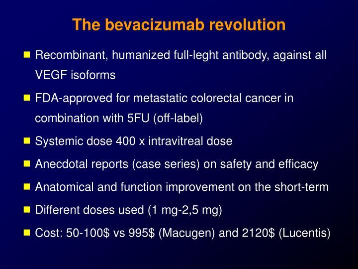 The bevacizumab revolution