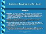 external environmental scan