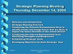 strategic planning meeting thursday december 14 2006