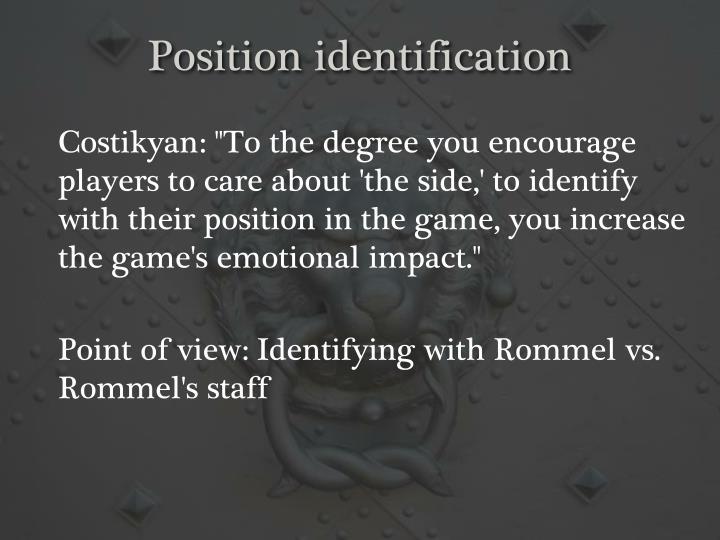 Position identification