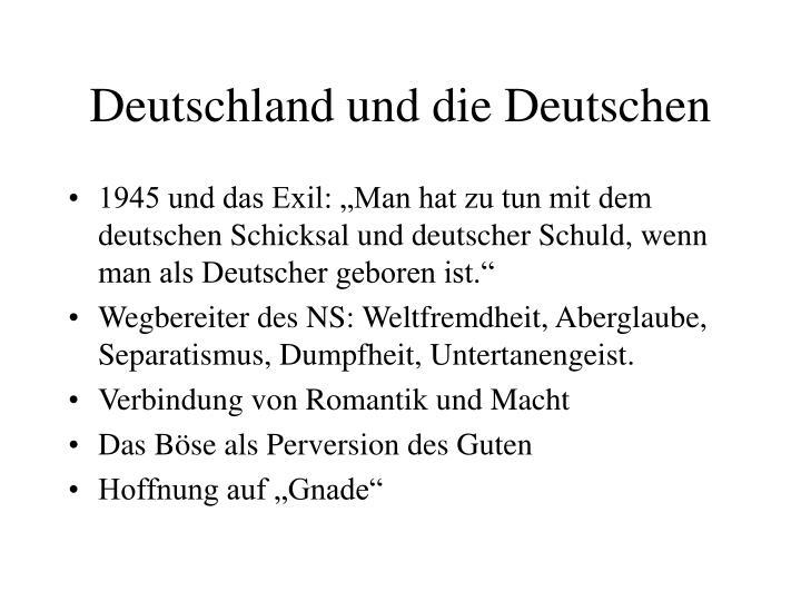 Deutschland und die Deutschen