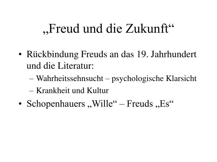 """""""Freud und die Zukunft"""""""