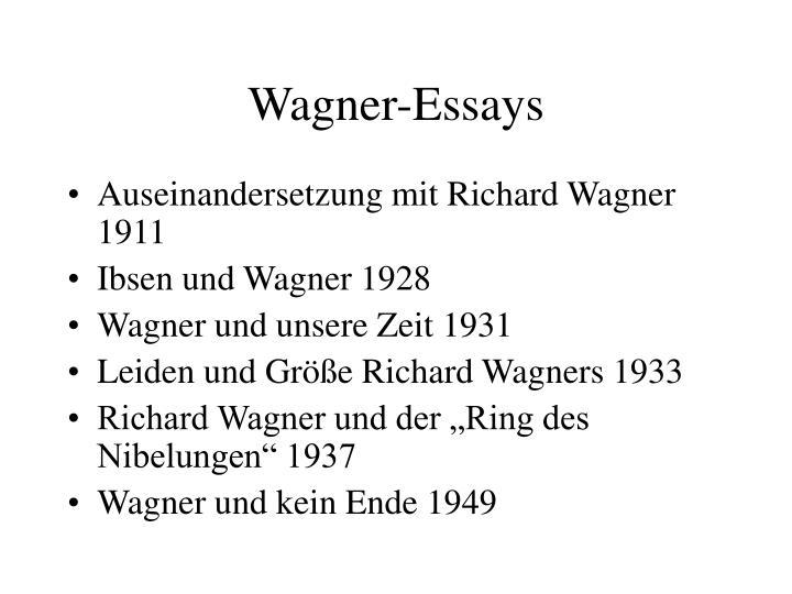 Wagner-Essays