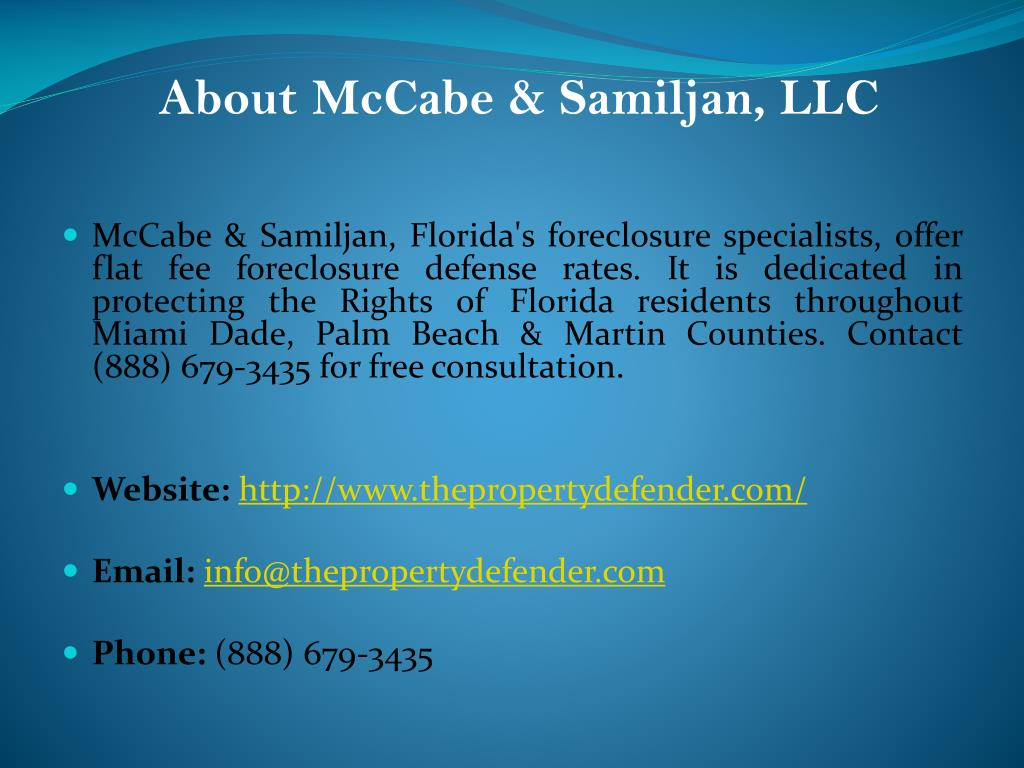 About McCabe & Samiljan, LLC
