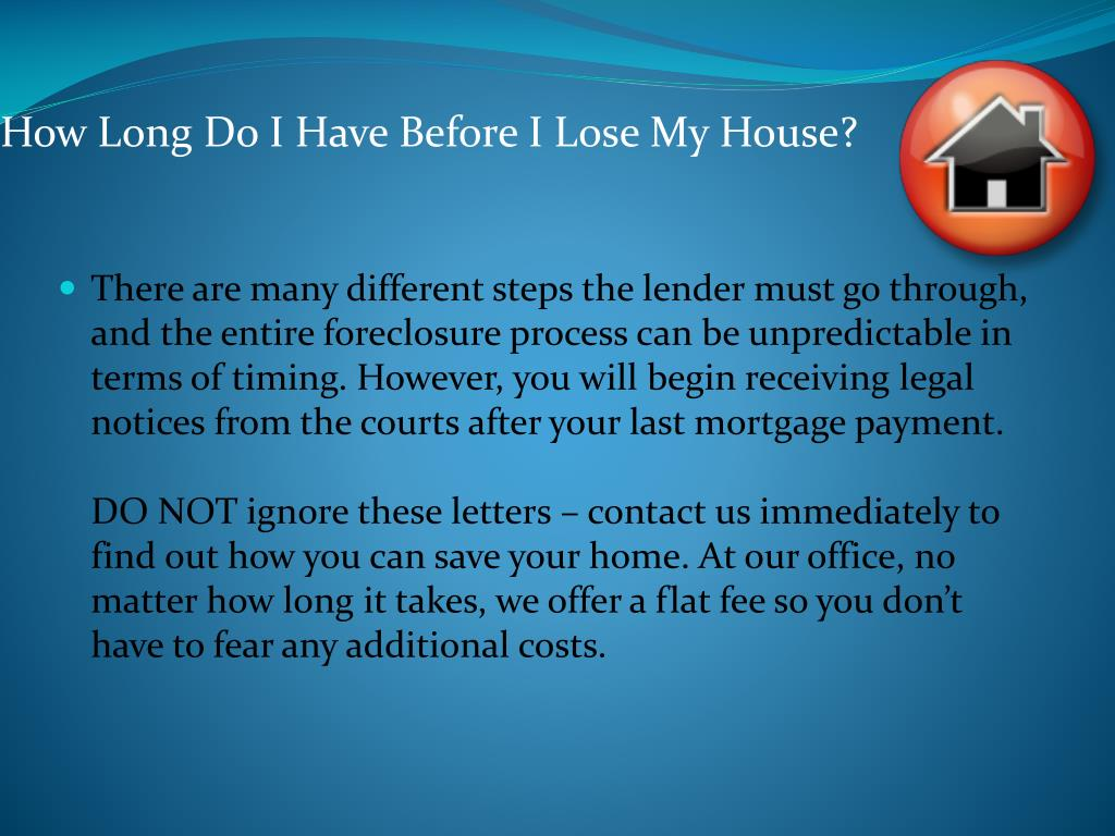 How Long Do I Have Before I Lose My House?