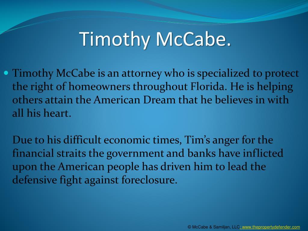 Timothy McCabe.