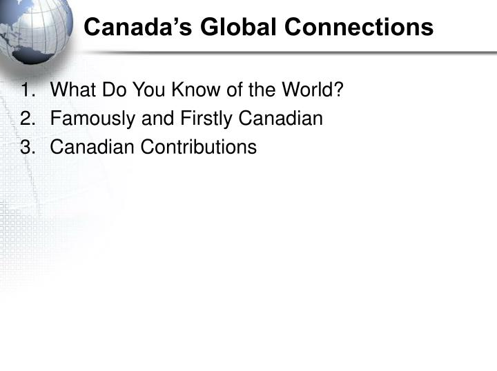 Canada's Global Connections